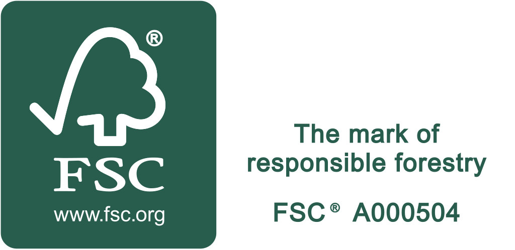 FSC logo with text on side